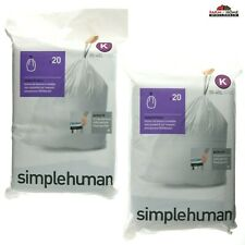 Garbage Bags ~ Simplehuman Code K 12 Gallon Liners ~ New