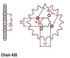 KR Ritzel 13Z Teilung 420 HONDA MT 80 S 80-82 New... front sprocket