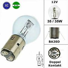2x Scheinwerfer Lampe E- geprüft - 12V - 35/35W - BA20D - Simson S51 Schwalbe