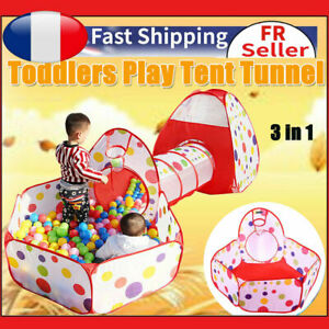 Tente de Jeu et Tunnel 3 en 1  Up Tente pour Enfant et bébé Tente de Gift