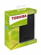 NEW Toshiba 500GB Canvio Basics USB 3.0 Portable External Hard Drive For PC MAC