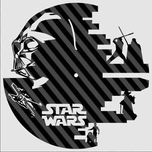 DXF CDR  File For CNC Plasma Laser Cut - Star Wars - Vader - Luke Clock