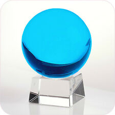 "Aqua Crystal Ball 60mm 2.3"" Include Crystal Stand and Gift Package"