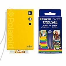 Polaroid Mint Instant Print Digital Camera (Yellow), W/ 20 Pack Zink Zero Ink 2x