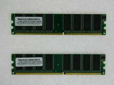 2GB 2x 1GB PC3200 DDR 400 MHz Non ECC 184 pin Low Density DIMM RAM Memory