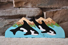 Killer Whale Fun Orca Puzzle Toy Hand Made USA Wooden Decoration