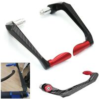 Universal Motorcycle Carbon Fiber 7/8'' 22mm Brake Clutch Lever Hand Guard RED