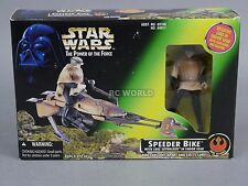 Vintage Star Wars SPEEDER BIKE w/ Exclusive LUKE SKYWALKER ENDOR Figure #rk1-3