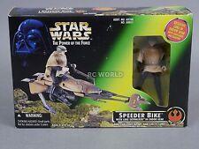 Vintage Star Wars SPEEDER BIKE w/ Exclusive LUKE SKYWALKER ENDOR Figure #rk1-3