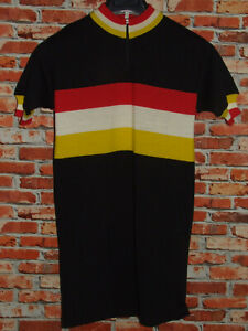 Shirt Bike Shirt Maillot Cycling Heroic Vintage 70'S Santini 80% Knitting Wool