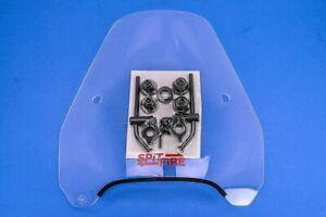 "Slipstreamer Clear Spitfire Windshield w/ Black Hardware, 1"" Bars  S-06-C-1"