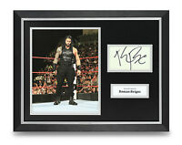 Roman Reigns Signed Photo Framed 16x12 WWE Autograph Memorabilia Display +COA