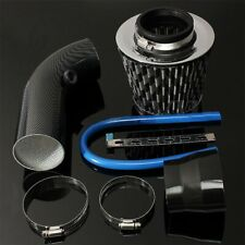 Universal Car Cold Air Intake Filter Induction Kit Pipe Hose System Carbon Black