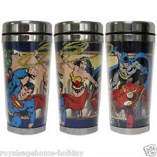 25568 Wonder Woman Batman Superman Flash 16oz Travel Mug Cup Super Friends