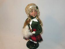 Byers Choice Retired 1998 Blond Girl with Candlestick and Fine White Muff