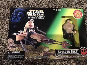 1996 Star Wars PotF - Speeder Bike with Luke Skywalker Factory Sealed