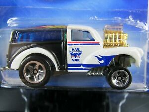 BLACK/WHITE MORRIS WAGON HW CITY WORKS SHORT CARD HOT WHEELS 1/64 DIECAST CAR