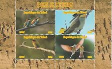 Chad 7434  - 2015 BEE EATERS #2 perf sheetlet of 4  values unmounted mint