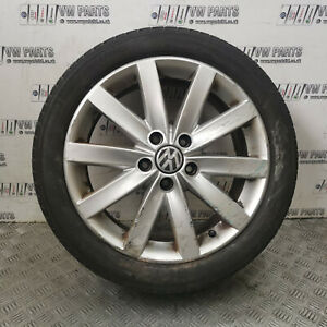 "VW GOLF MK6 17"" ALLOY WHEELS WITH TYRES 225/45/R17 5K0601025F 2008-2012"