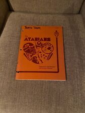 The Atarians Pinball Operations, Maintenance and Service Manual, Atari 1976 Rare