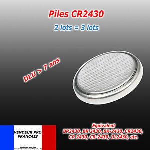 Pile bouton CR2430 Lithium 3v CR 2430 BR2430 DL2430 021107-001A L20 5011L