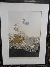 Reika Iwami, 1976 signed art, 29/70 Japanese Wood Block -Listed Artist Rare!