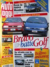 Auto Oggi n°40 1995 Fiat Bravo batte Golf - BMW serie 5 - Ford Mondeo [Q202]