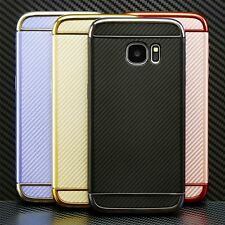 Silicone Case Cover Protective Carbon Covers For Samsung GALAXY  S7 S8 A3 A5 J3