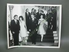 5/2/62 Original Rowe JFK WH Photo Jackie John Kennedy Lyndon Lady Bird Johnson