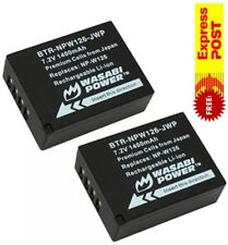 2 X Wasabi Power Batteries for Fujifilm Fuji FinePix & Np-w126 Hs30exr Hs35exr