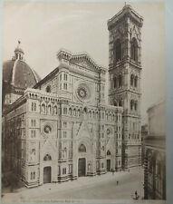 Firenze - Facciata della Cattedrale , Prof.De Fabris - Foto um 1890 - 25 x 20 cm