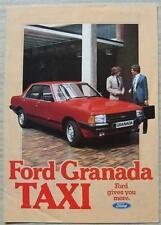 FORD GRANADA DIESEL TAXI Car Sales Brochure 1981-82 #FA553