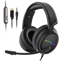 Jeecoo Stereo Gaming Headset for PS4, Xbox One S - Noise Cancelling Over Ear -