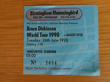 Bruce Dickinson World Tour 1990 Ticket + Jagged Edge - For Iron Maiden fans