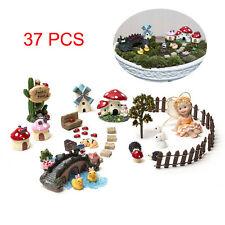 37 Pcs DIY Flower Pot Plant Dollhouse Kit Miniature Fairy Garden Ornament Decor