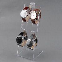 4-Slots Plastic Jewelry Bracelet Wrist Watch Display Show Stand Case Rack Holder