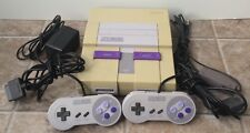 Super Nintendo SNES Console W/ 2 Controllers Power Adapter RF Switch Tested Read