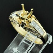 1.02 ct 14k Yellow Gold Ladies Semi Mount Diamond Ring  5.6 Grams