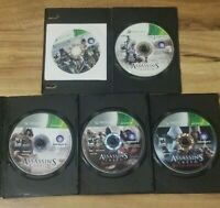 Lot of 4 ASSASSIN'S CREED 2 3 Revelations Brotherhood Xbox 360 Discs Only