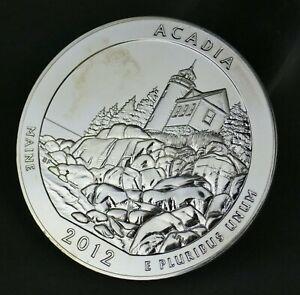 2012 Acadia America The Beautiful ATB 5 Oz 999 Silver Coin