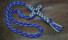 Handmade👈(Square-Knot)550 paracord✝Cross✝Necklace/Alloy-bead/Breakaway-barrel