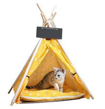 Indoor Pet Puppy Dog Teepee Cat Bed House Canvas Pet Tent Bed Indoor