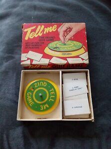 Vintage Spears Games- Tell Me Quiz Game- metal spinner - 1960s