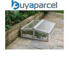 Gardman Grey Wooden Cold Frame Garden Greenhouse with Polycarbonate Glazing