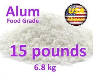 Holland and Barrett Potassium Alum, Food Grade 99.7% Pure 15 lb (6.8kg)