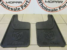 DODGE RAM Rear Heavy Duty Rubber Mud Flaps w/o Fender Flares NEW OEM MOPAR