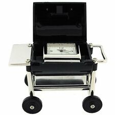 Miniature Barbeque Grill On Wheels Ornament Novelty Collectors Clock 9593