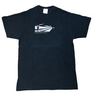 Vintage Linux Samurai Frog T-shirt Black HP Novell Sales Team Large
