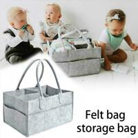 Portable Baby Diaper Organizer Caddy Felt Changing Carrier Nappy Storage X6X0