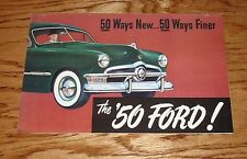 1950 Ford Car 50 Ways Full Line Sales Brochure Deluxe Convertible Coupe Sedan